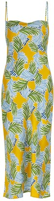 Bec & Bridge Palm Paradise printed silk-satin midi dress