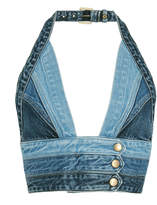 Jean Atelier Cropped Denim Halter Top
