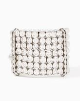 Charming charlie Rhinestones and Pearls Stretch Bracelet