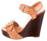 Giuseppe Zanotti Buckle-Accented Platform Wedges