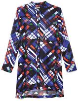 Vince Camuto Graphic-Print Button-Down Tunic