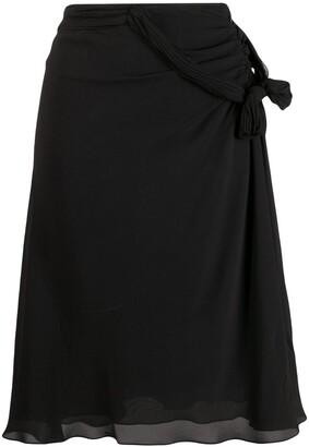 Christian Dior Pre-Owned Ruffle Sheer Skirt