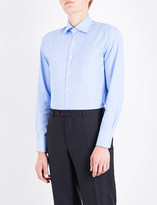 Canali Circle-pattern regular-fit cotton shirt