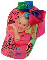 Nickelodeon Little Girls' Jojo Siwa Collection, Pink Cap with Ponytail and Bow, One