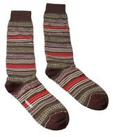 Missoni Gm00cmu5236 0001 Olive/cream Knee Length Socks.