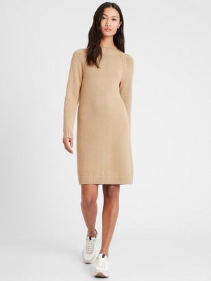 Banana Republic Petite Mock-Neck Sweater Dress
