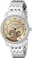 Stuhrling Original Women's Quartz Watch with Rose Gold Dial Analogue Display and Silver Stainless Steel Bracelet 569.03