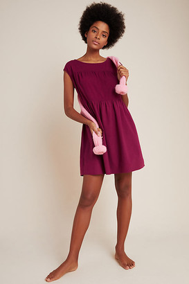 Sandra Tiered Babydoll Dress By Good Luck Tees in Purple Size M