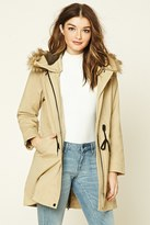 Forever 21 FOREVER 21+ Faux Fur Hooded Parka