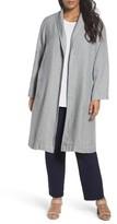 Eileen Fisher Plus Size Women's Long Organic Linen Jacket