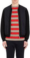 TOMORROWLAND Men's Tech-Poplin & Knit Bomber Jacket