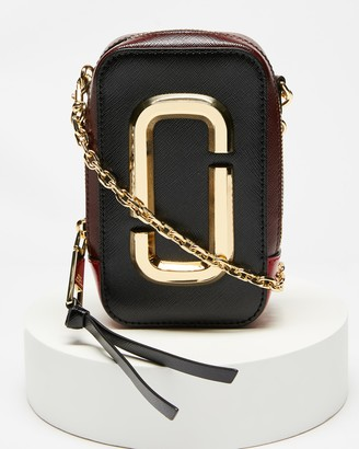 Marc Jacobs Women's Black Leather bags - The Hot Shot Cross-Body Bag - Size One Size at The Iconic