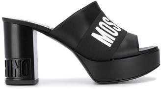 Moschino Logo 95mm Mules