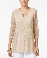 JM Collection Crochet Tunic, Only at Macy's
