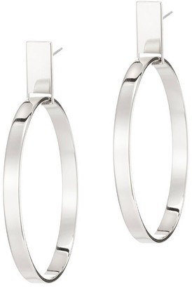 Jenny Bird Agnes Hoop - Silver, MEDIUM