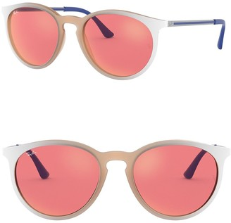 Ray-Ban Phantos 53mm Round Sunglasses