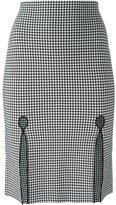 Alexander Wang fitted gingham pencil skirt