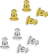 Giani Bernini 4-Pc. Set Earring Bullet Backs in Sterling Silver and 18k Gold-Plated Sterling Silver, Created for Macy's