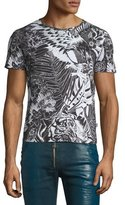 Just Cavalli Eagle-Print Short-Sleeve T-Shirt, Black