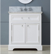 "Darby Home Co Colchester 24"" Single Sink Bathroom Vanity Set - White"