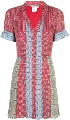 Alice + Olivia Colour Block Shirt Dress