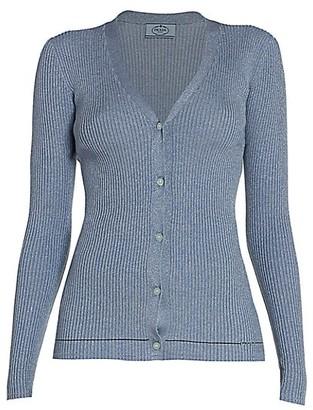 Prada Rib-Knit Cardigan