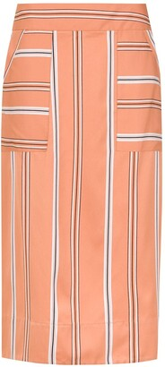 Olympiah striped Piaggia midi skirt