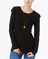 Maison Jules Ruffled Top, Only at Macy's