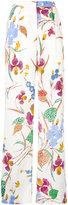 Diane von Furstenberg floral print straight trousers - women - Silk/Polyester/Spandex/Elastane/Viscose - 2