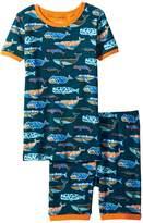 Hatley Whale Pod Short Pajama Set Boy's Pajama Sets