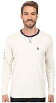 U.S. Polo Assn. Long Sleeve V-Inset Crew Neck Knit Shirt