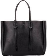 Lanvin Women's Tassel-Handle Extra-Large Shopper-BLACK