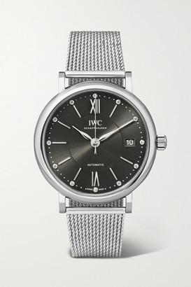 IWC SCHAFFHAUSEN Portofino Automatic 37mm Stainless Steel And Diamond Watch - Silver