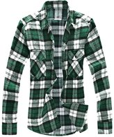 uxcell Allegra K Men Big and Tall Plaid Flannel Shirt XXL