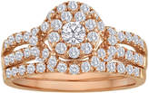 JCPenney MODERN BRIDE 1 CT. T.W. Diamond 10K Rose Gold Bridal Ring Set