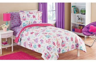 Mainstays Kids Pretty Princess Bed-in-a-Bag Bedding Set