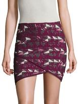 Maje Jooyce Jacquard Mini Skirt