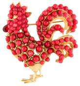 Dolce & Gabbana Resin & Crystal Rooster Brooch