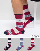 Original Penguin 3 Pack Patterned Socks