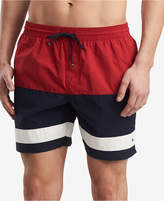 Tommy Hilfiger Men's Colebrook Colorblocked Swim Trunks, Created for Macy's