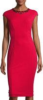 Maggy London Crepe Scuba Midi Dress, New Red