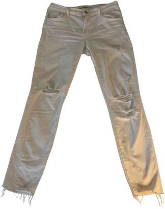 J Brand White Cotton Jeans for Women