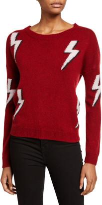 Rails Aries White Lightning Crewneck Wool-Blend Sweater