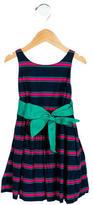 Ralph Lauren Girls' Striped A-Line Dress