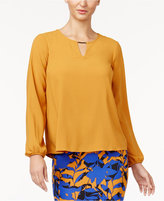 Thalia Sodi Pleated Hardware Blouse, Created for Macy's