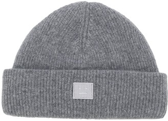 Acne Studios Logo-Patch Beanie Hat