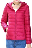 Shinekoo Women Winter Hooded Packable Light Weight Short Down Jacket Coat