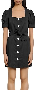 Sandro Fira Puff-Sleeve Mini Dress