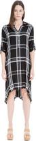 Max Studio Plaid Shirt Dress