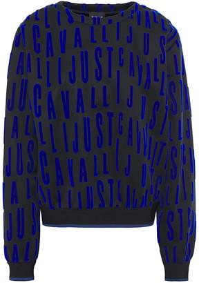 Just Cavalli Flocked Scuba Sweatshirt